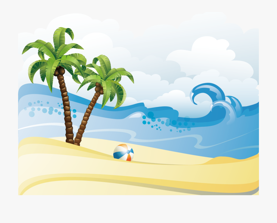 Beach hd clipart jpg Summer Material Beach Poster Free Clipart Hd - Beach Summer ... jpg