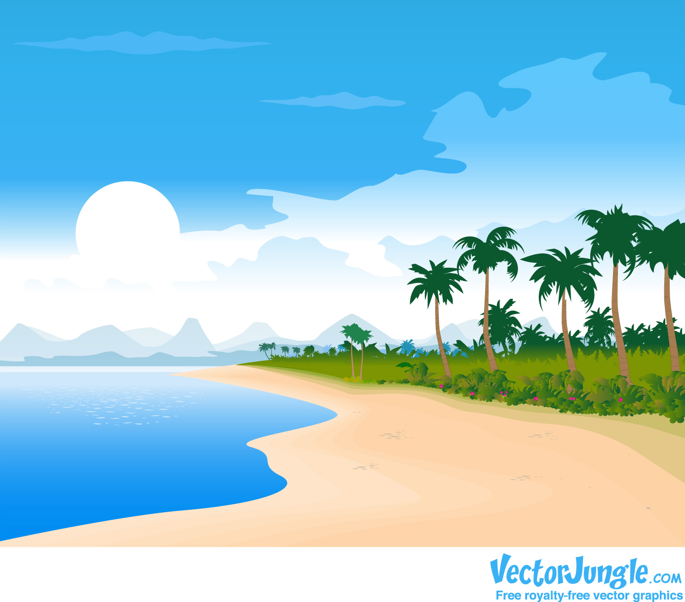 Beach hd clipart picture freeuse Beach Background Clipart & Look At Clip Art Images - ClipartLook picture freeuse