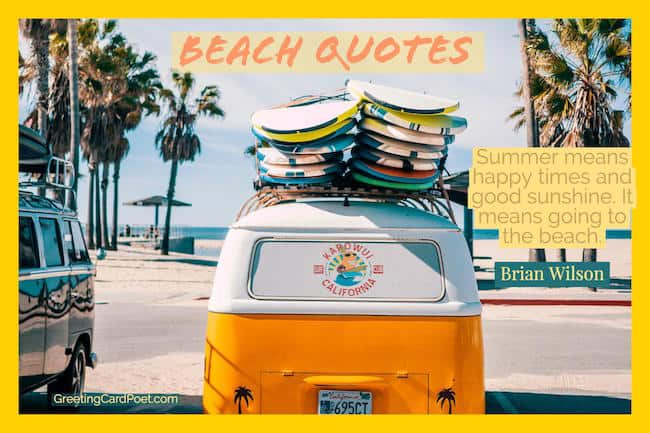 Beach holiday sayings clipart