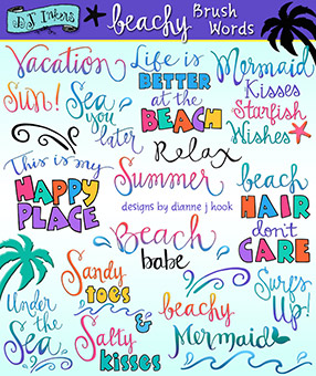 Beach holiday sayings clipart svg download Words, quotes, thoughts & sayings in clip art by DJ Inkers - DJ Inkers svg download