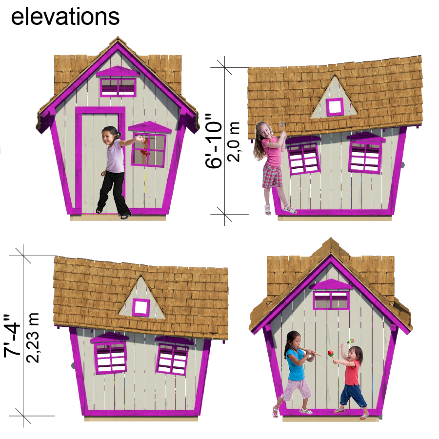 Kid club house clipart banner library stock Crooked Playhouse Plans | Pinterest | Playhouses, Pdf and Play houses banner library stock