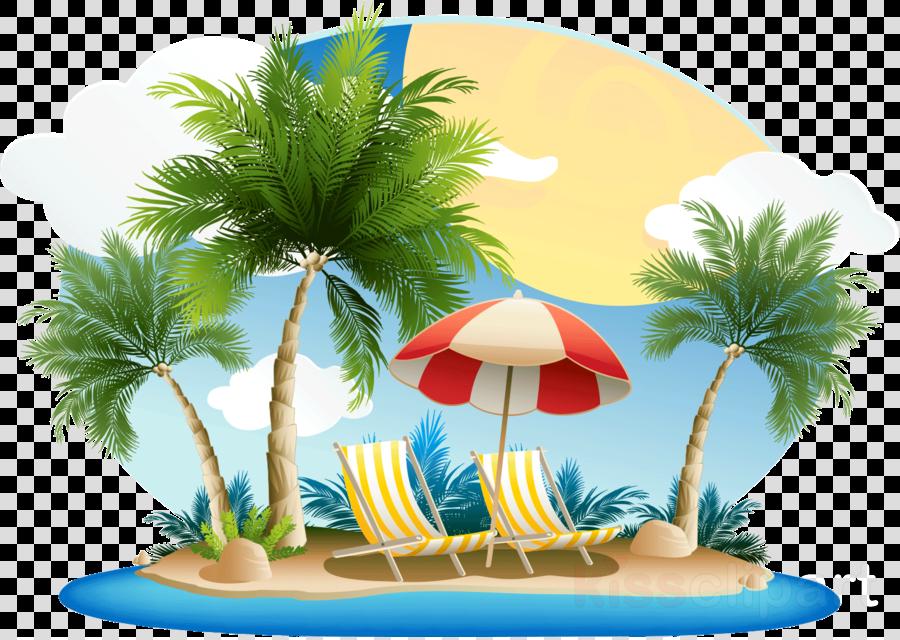 Beach island clipart clip art free download Palm Tree Background clipart - Beach, Island, Plant, transparent ... clip art free download