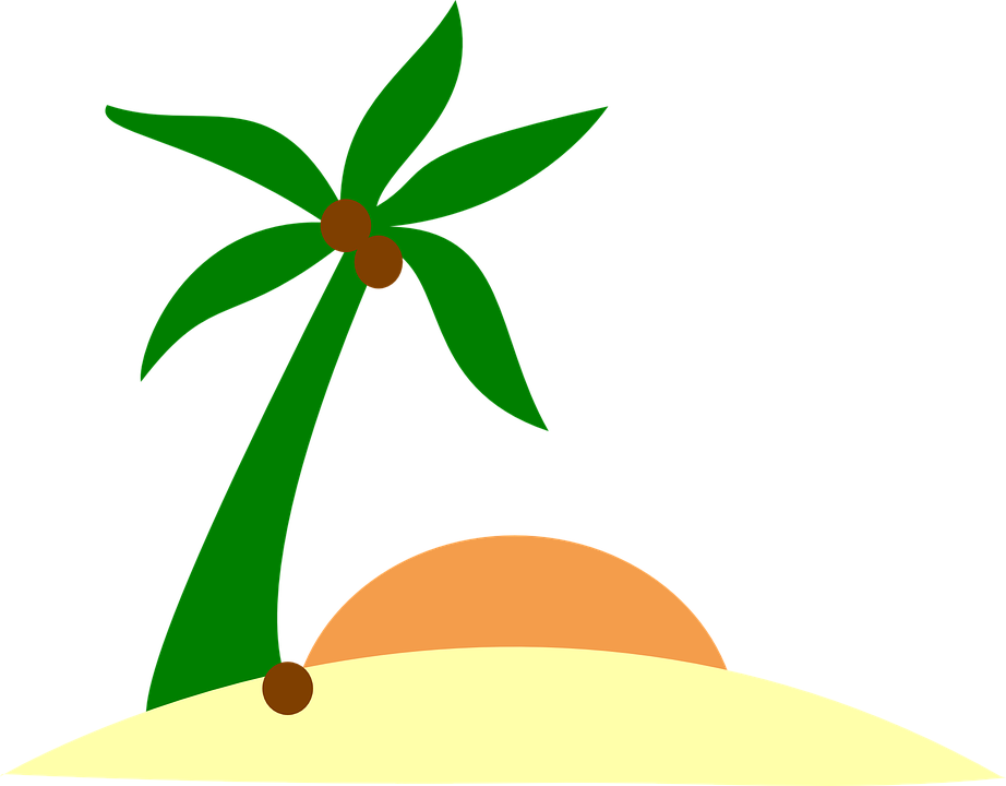 Beach island clipart png royalty free stock Free vector graphic sand beach island palm sun image cliparts ... png royalty free stock
