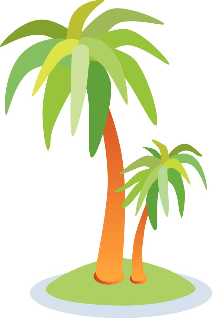 Beach island clipart picture library stock Beach island palm tree with coconuts clipart - Clip Art Library picture library stock