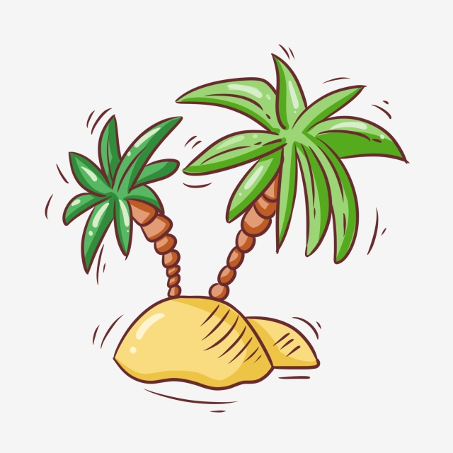 Beach island clipart banner freeuse download Download Free png Island Beach Coconut Trees, Coconut Clipart ... banner freeuse download
