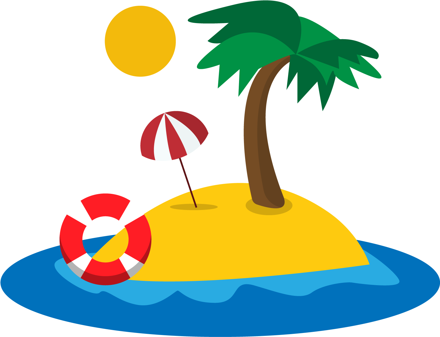 Beach island clipart png free download HD Clipart Beach Tropical Beach - Beach Island Cartoon Transparent ... png free download