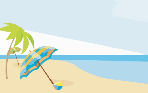 Beach landscape clipart clipart stock Summer Landscape Cliparts - Cliparts Zone clipart stock