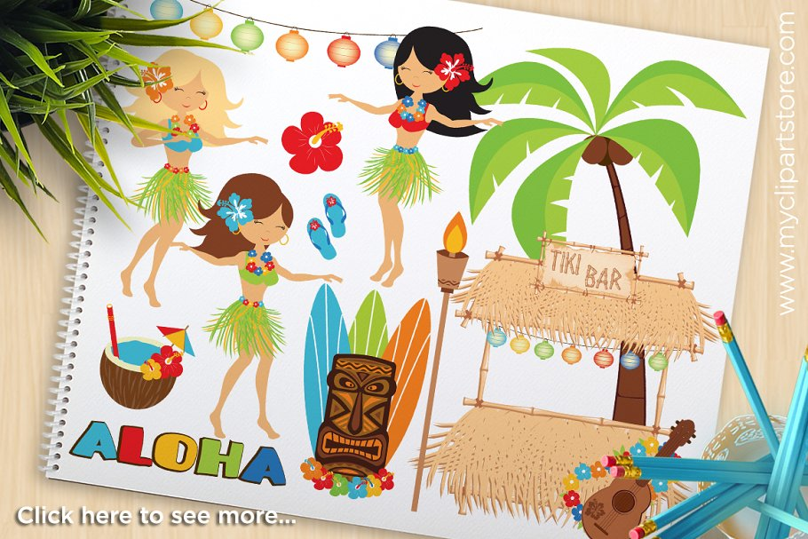 Beach letter m clipart individual free Hula Girls, Luau, Beach Clipart, SVG free