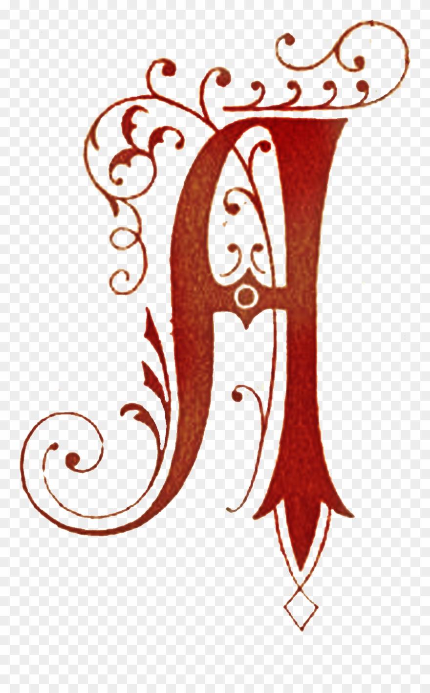 Fancy letter a clipart