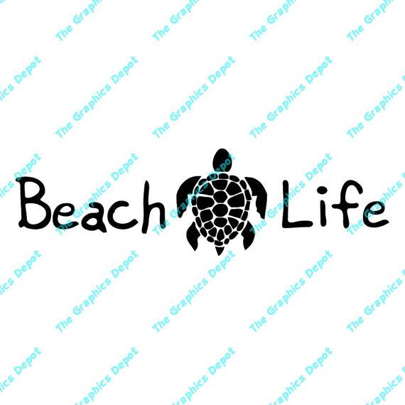 Beach life clipart graphic royalty free Beach Life - Sea Turtle - svg, dxf, pdf, eps, ai files - Digital Cut ... graphic royalty free