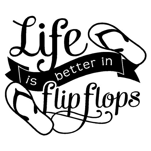 Beach life clipart transparent library Life Is Better In Flip Flops.....Beach Wall Decals Quotes Words Beach Wall  Stickers Lettering, Black 12\