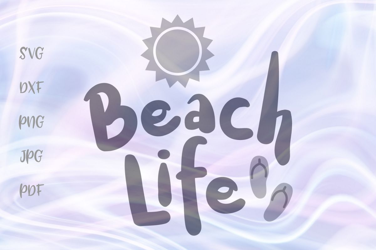Beach life clipart picture free Beach Life Summer Sun Flip Flop Clipart Sign Cut File SVG picture free