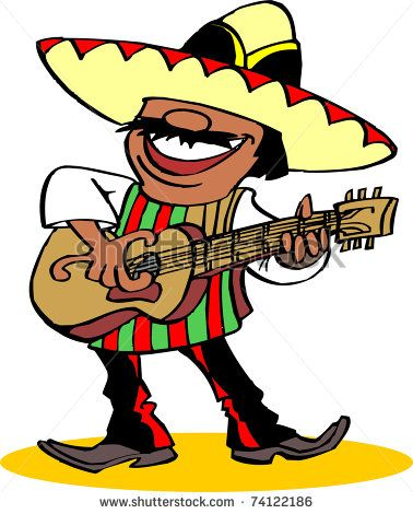Mariachi pictures clipart image black and white Mexican Guitar Mariachi Chili Pepper Clipart - Free Clip Art Images ... image black and white