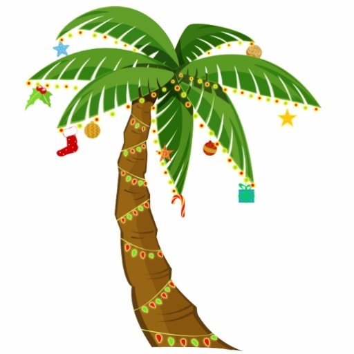 Christmas clipart palm tree