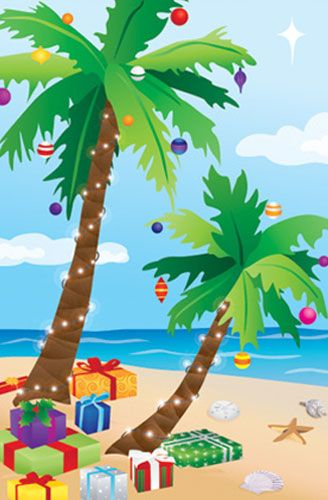 Beach palm tree christmas clipart png freeuse download Merry Tropical Christmas | I NEED SUMMER !!! | Tropical christmas ... png freeuse download