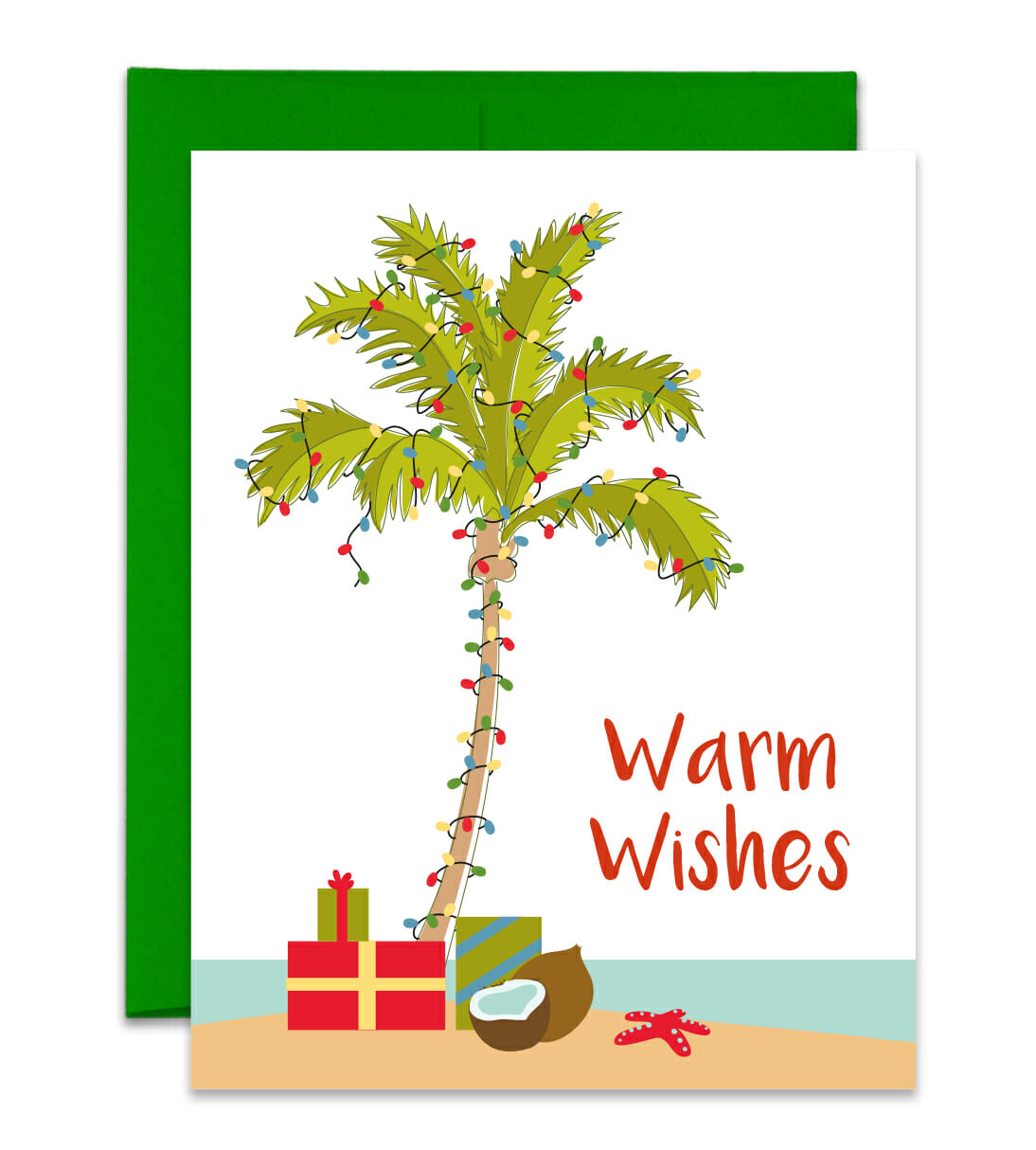 Beach palm tree christmas clipart png transparent stock Beach Christmas Card - Palm Tree Holiday Card png transparent stock