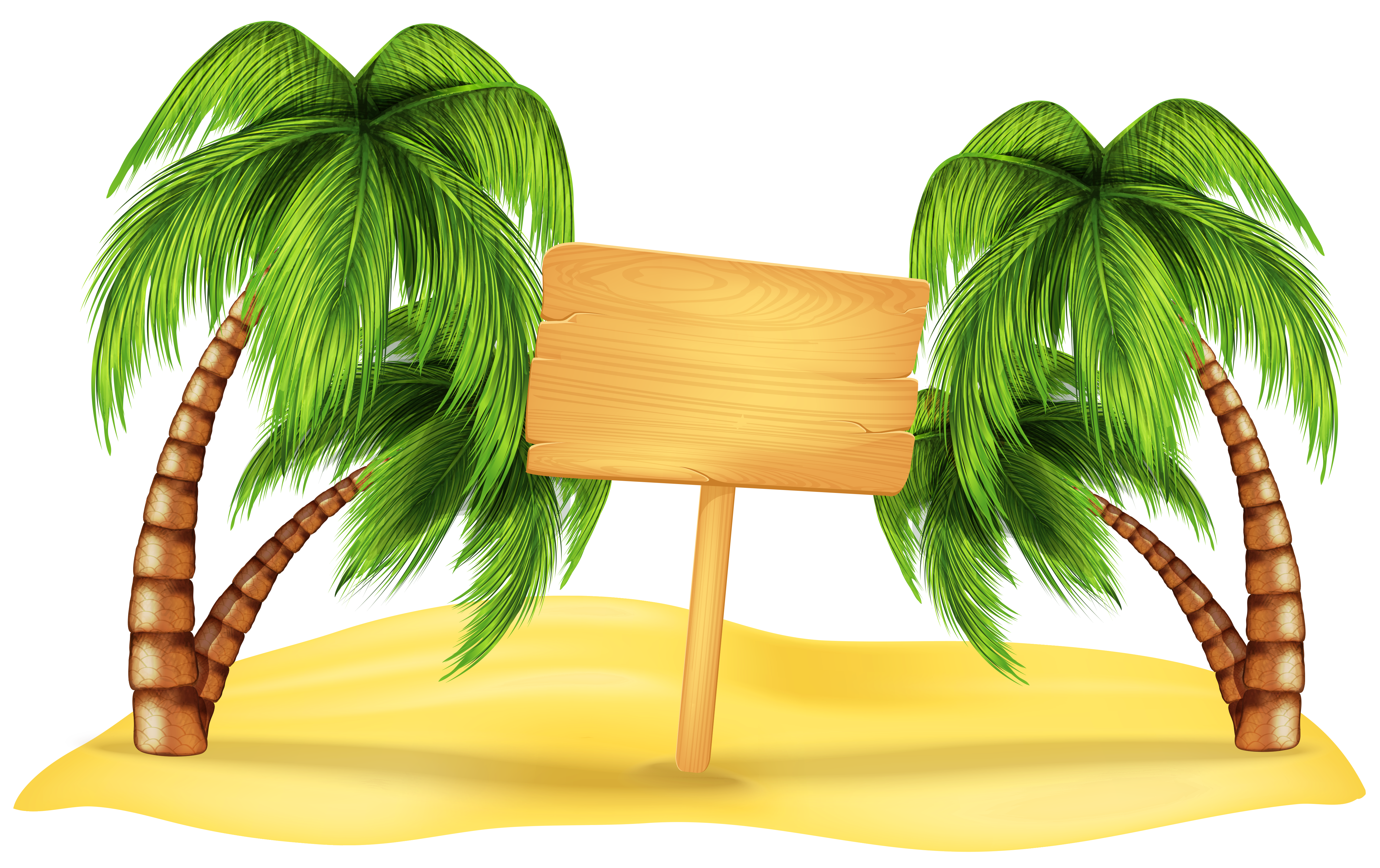 Beach palm tree clipart image transparent stock Transparent Beach Palm Decoration PNG Clipart | Places to Visit ... image transparent stock