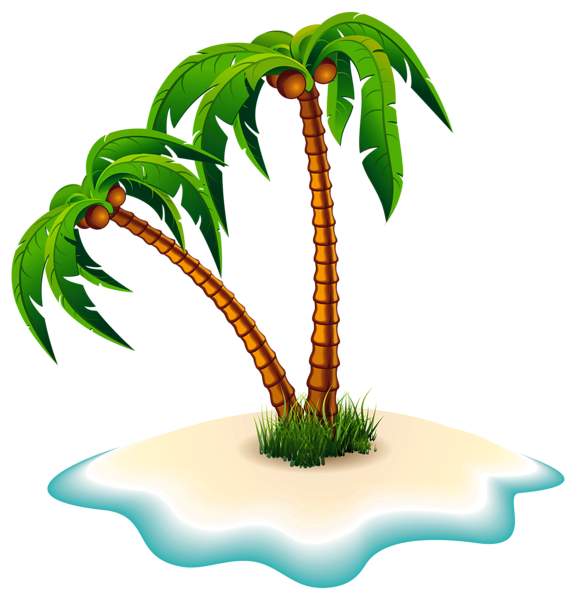 Beach palm tree clipart png freeuse download Palm Trees and Island PNG Clipart Image | draw | Pinterest | Clipart ... png freeuse download