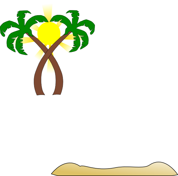 Beach palm tree clipart vector stock Double Palm Beach Clip Art at Clker.com - vector clip art online ... vector stock