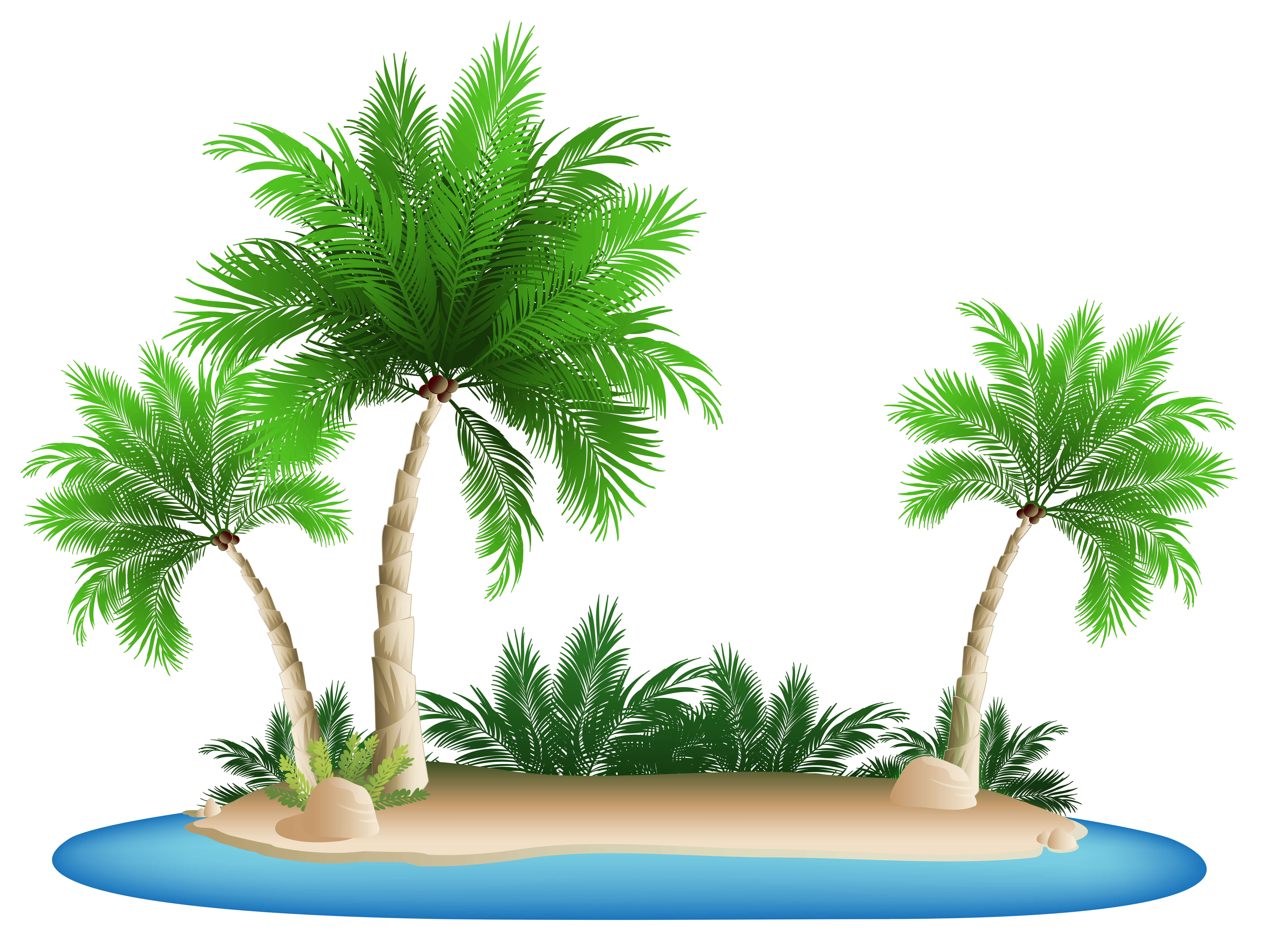 Beach palm tree clipart jpg transparent Palm Trees Island PNG Clipart Picture | Gallery Yopriceville - High ... jpg transparent