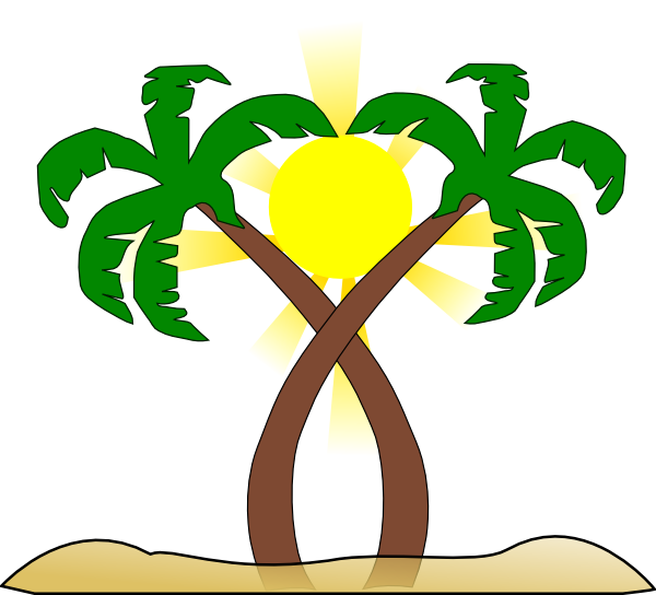 Palm tree sun clipart free download Double Palm Beach Clip Art at Clker.com - vector clip art online ... free download
