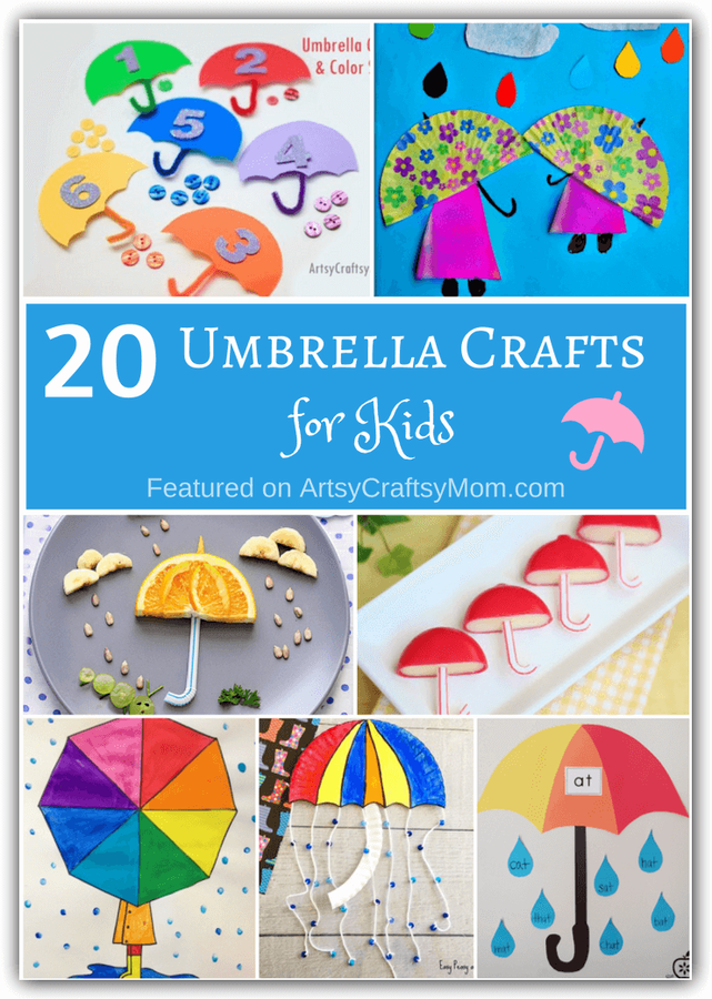 Beach primary color umbrella clipart vector transparent stock 20 Unusual Umbrella Crafts for Kids vector transparent stock