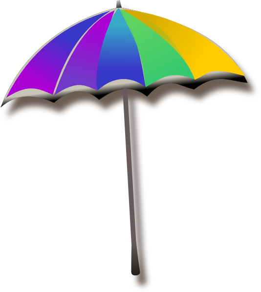 Beach primary color umbrella clipart clipart free stock Umbrella Clip Art at Clker.com - vector clip art online, royalty ... clipart free stock