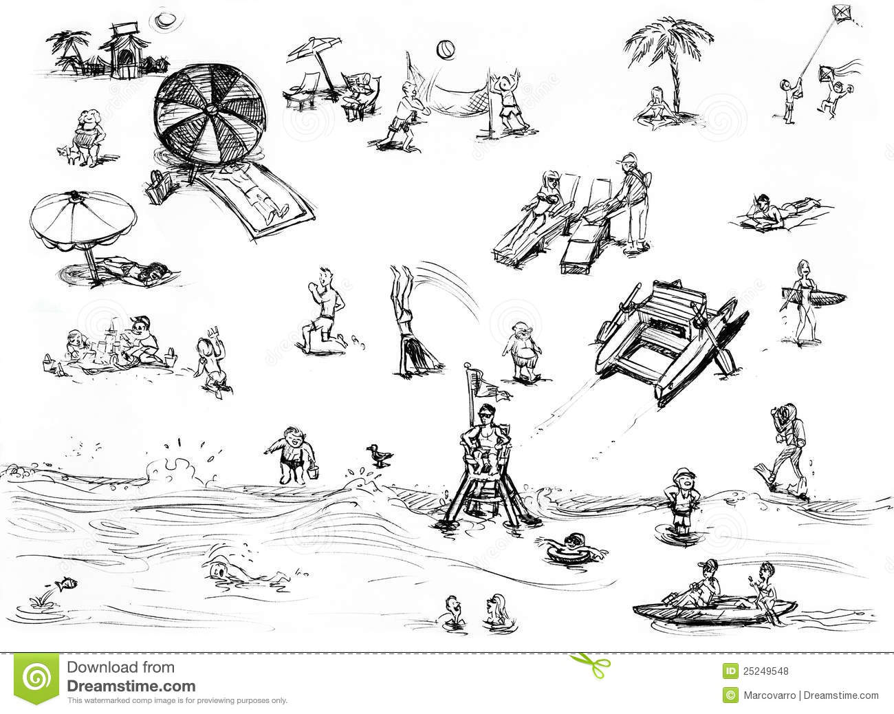 Beach scene clipart black and white clipart royalty free Beach Scene Clipart Black And White (86+ images in Collection) Page 2 clipart royalty free