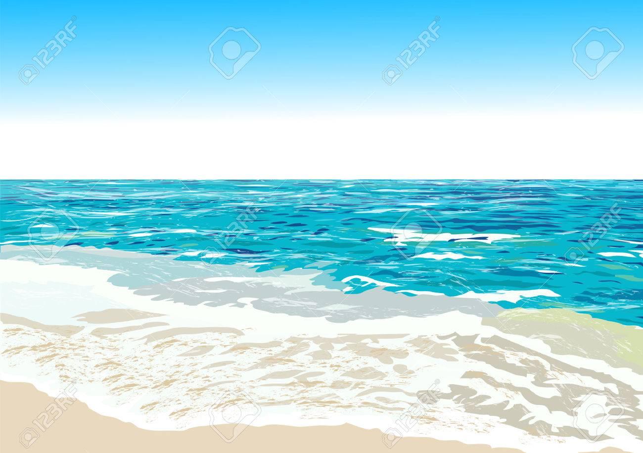 Beach shore clipart vector transparent library Ocean Shore, Beach, Vector Illustration Ro #421812 - Clipartimage.com vector transparent library