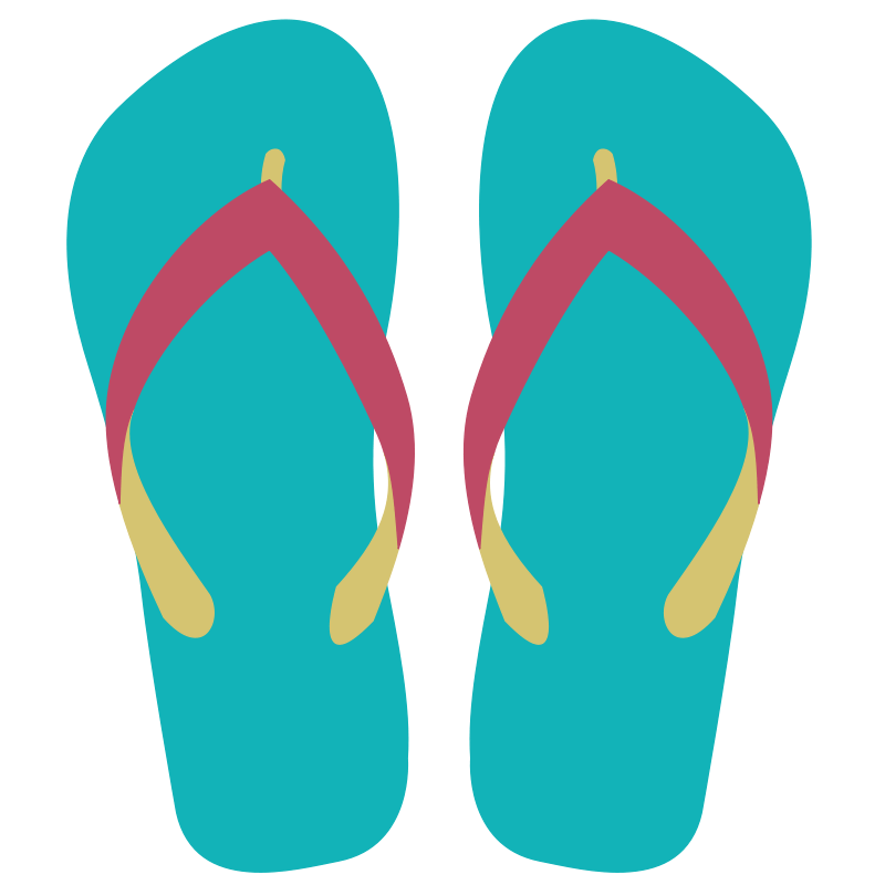 Beach slippers clipart vector royalty free library Beach Sandals Cliparts - Cliparts Zone vector royalty free library