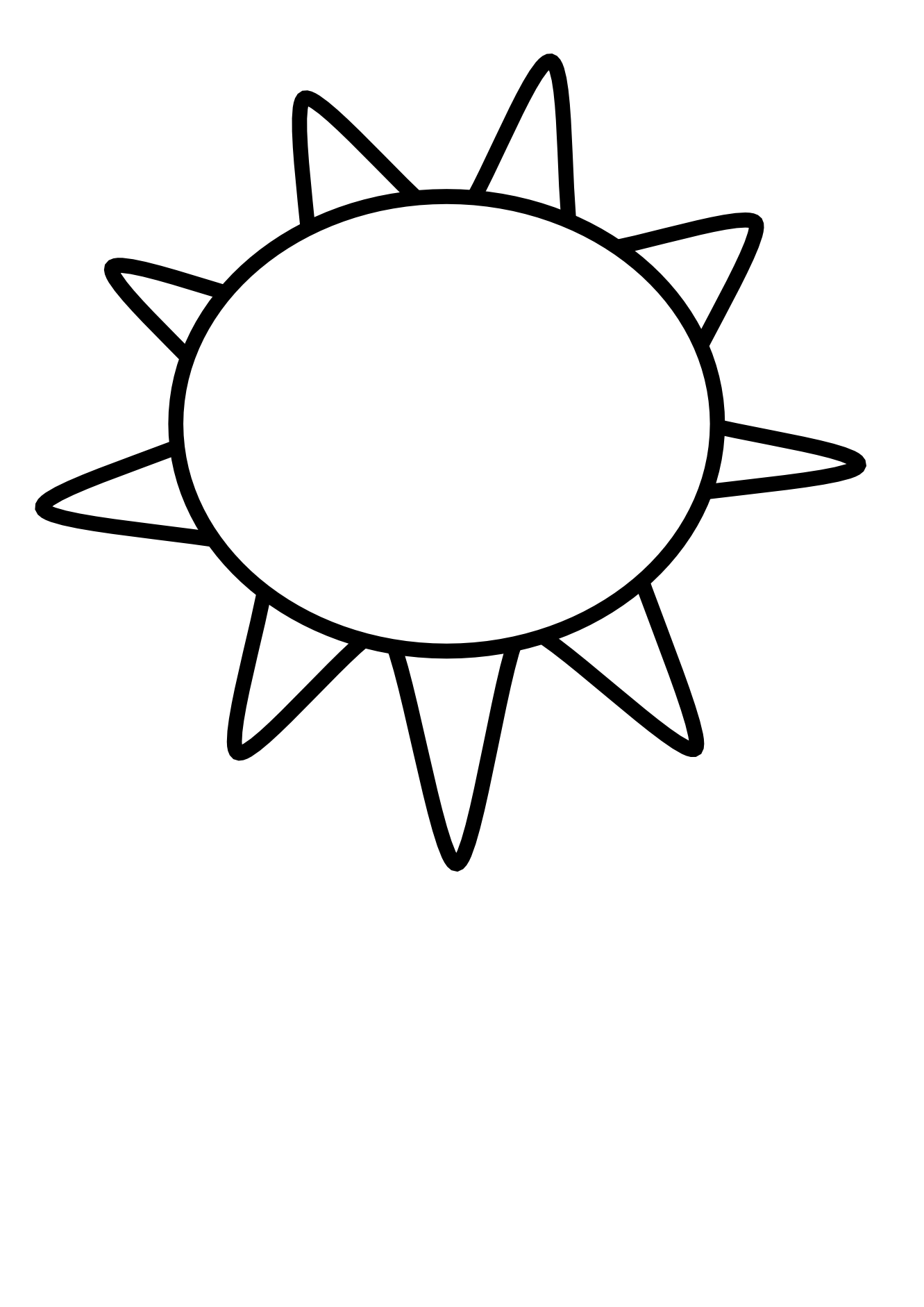 Sun outline clipart svg freeuse Sun Clipart Black And White | Clipart Panda - Free Clipart Images svg freeuse