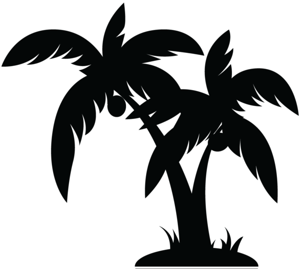 Palm tree island clipart black and white image black and white stock Palm Tree Black image - vector | Simple LInes | Pinterest | Black ... image black and white stock