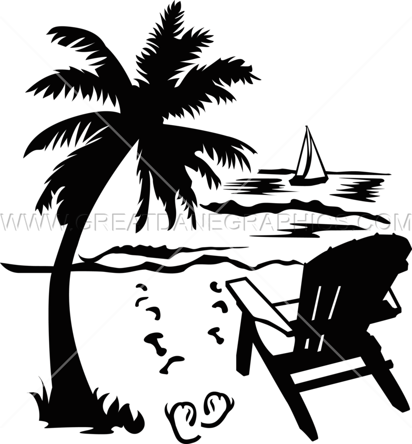 Beach tree clipart banner library stock Palm Tree Beach Drawing at GetDrawings.com | Free for personal use ... banner library stock