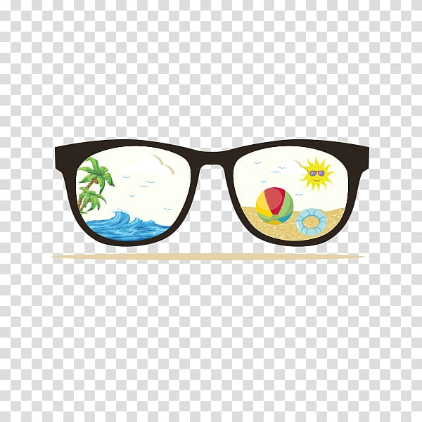 Beach sunglasses clipart clipart black and white download Wedding invitation Party Beach Greeting card Birthday, Sunglasses ... clipart black and white download