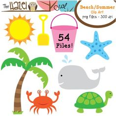 Beach themed clipart free banner transparent stock Free Summer Theme Cliparts, Download Free Clip Art, Free Clip Art on ... banner transparent stock
