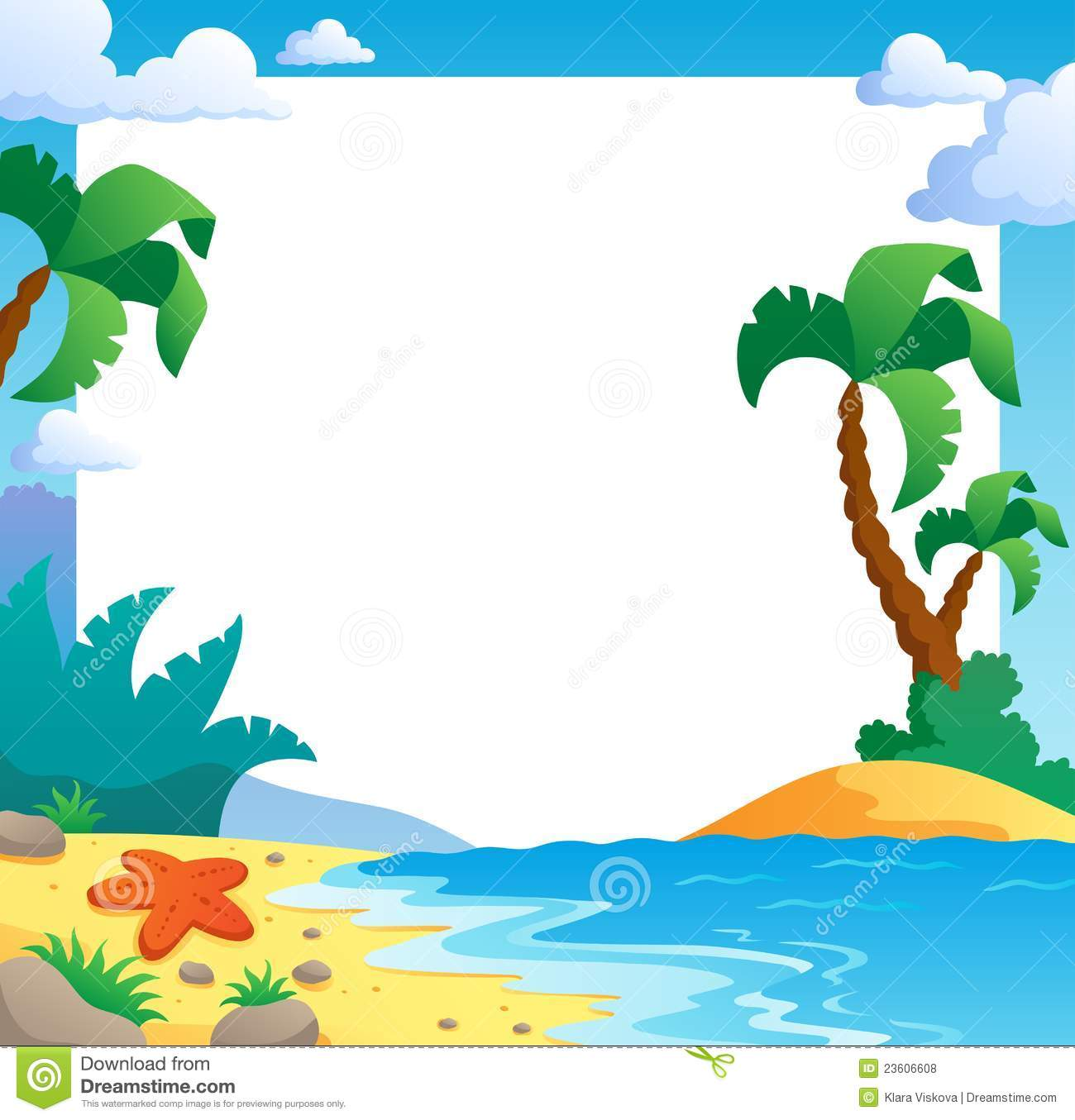 Beach themed clipart free graphic freeuse download Beach Clipart Borders | Free download best Beach Clipart Borders on ... graphic freeuse download