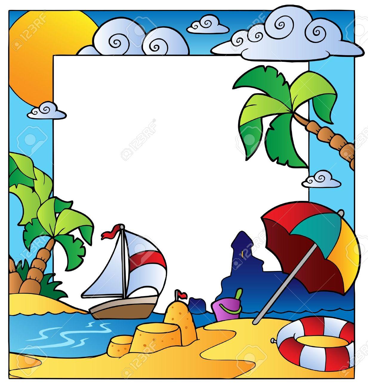 Beach themed cliparts clip transparent download Beach Frame Cliparts | Free download best Beach Frame Cliparts on ... clip transparent download