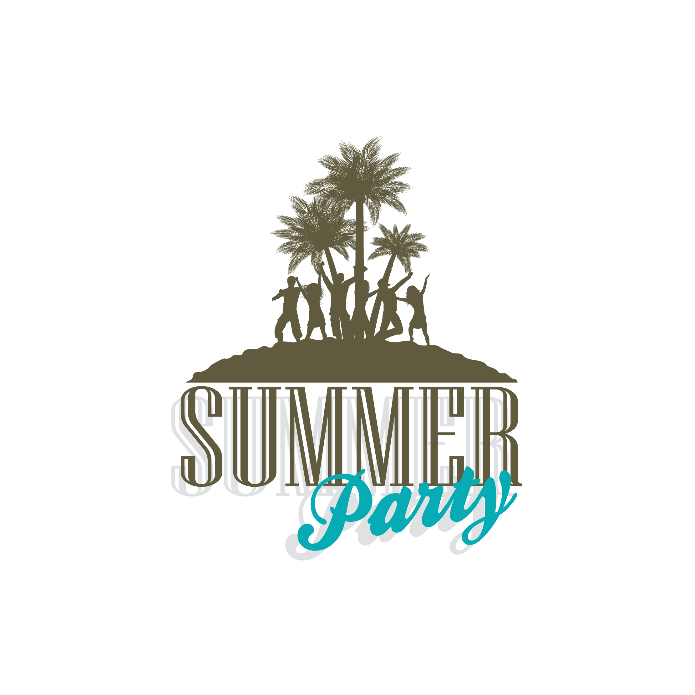 Beach tree clipart clip transparent library Party Silhouette Clip art - Summer beach silhouette 2222*2222 ... clip transparent library