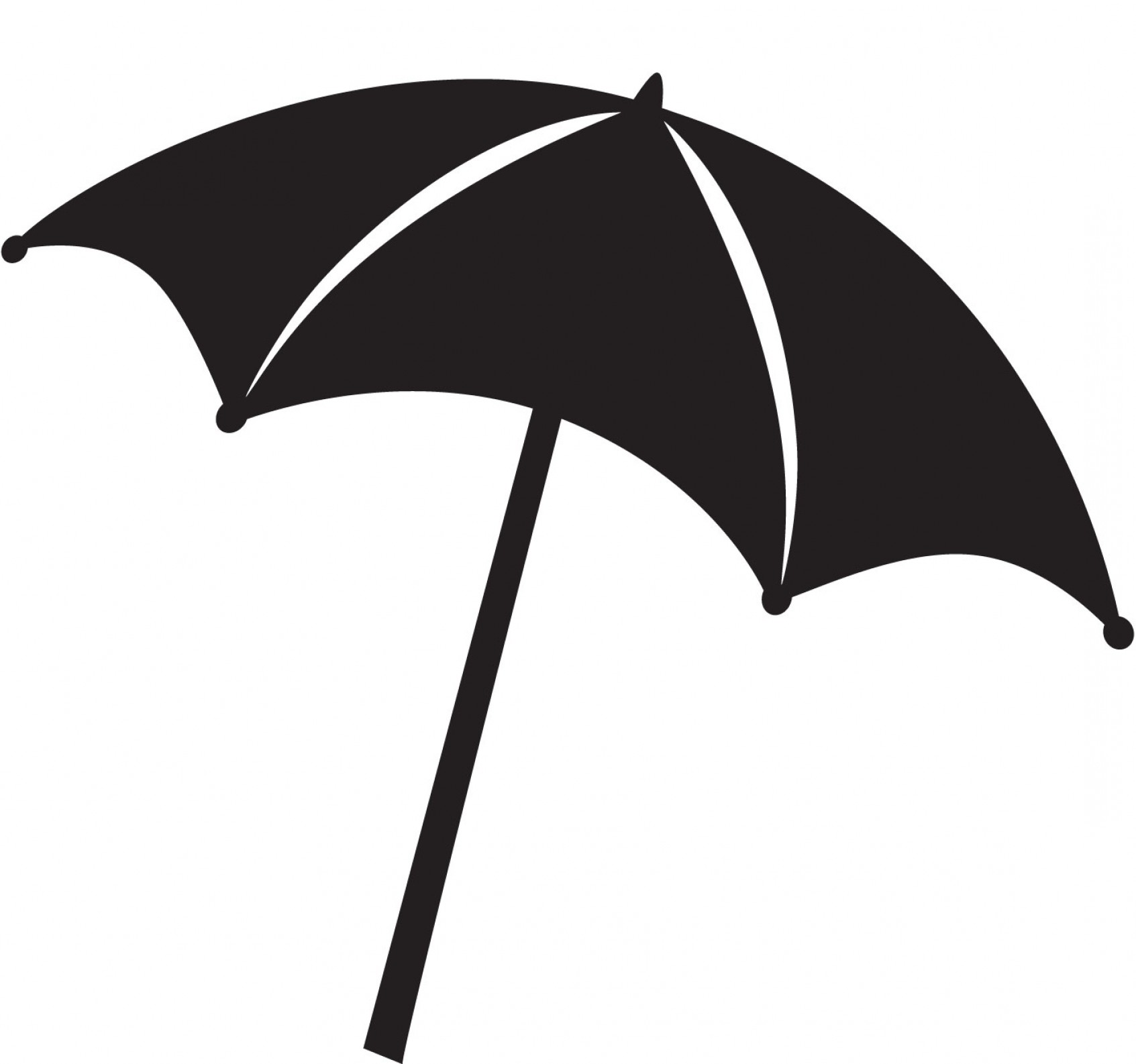 Beach umbrella clipart clip royalty free stock Beach Umbrella Clipart Black And White | SOIDERGI clip royalty free stock