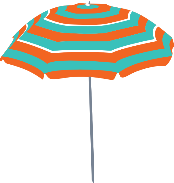 Beach umbrella clipart png freeuse stock Beach Umbrella Clip Art at Clker.com - vector clip art online ... png freeuse stock