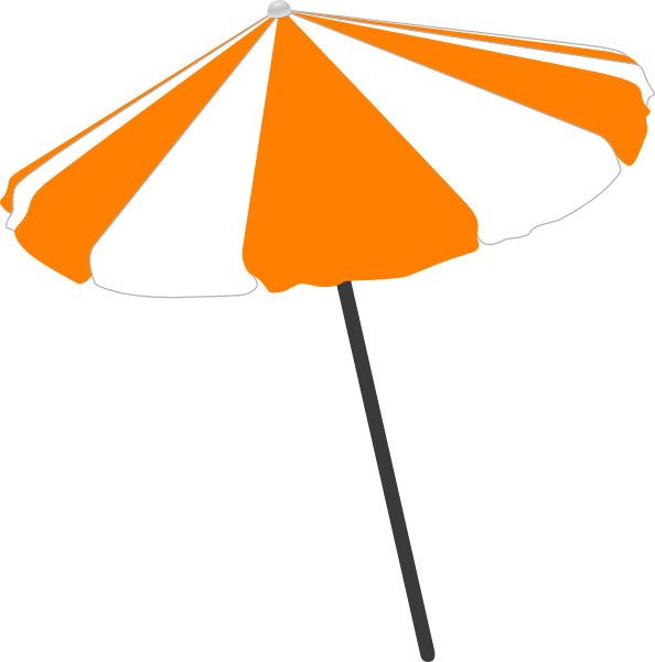 Beach umbrella with sun clipart image library Beach Umbrella Clip Art at Clker.com - vector clip art online ... image library