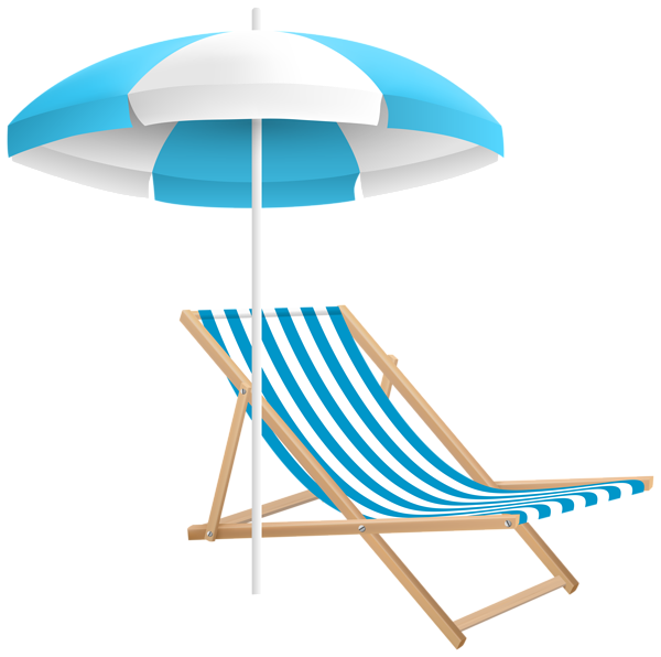 Beach umbrella with sun clipart black and white download Beach Chair and Umbrella PNG Clip Art Transparent Image ... black and white download