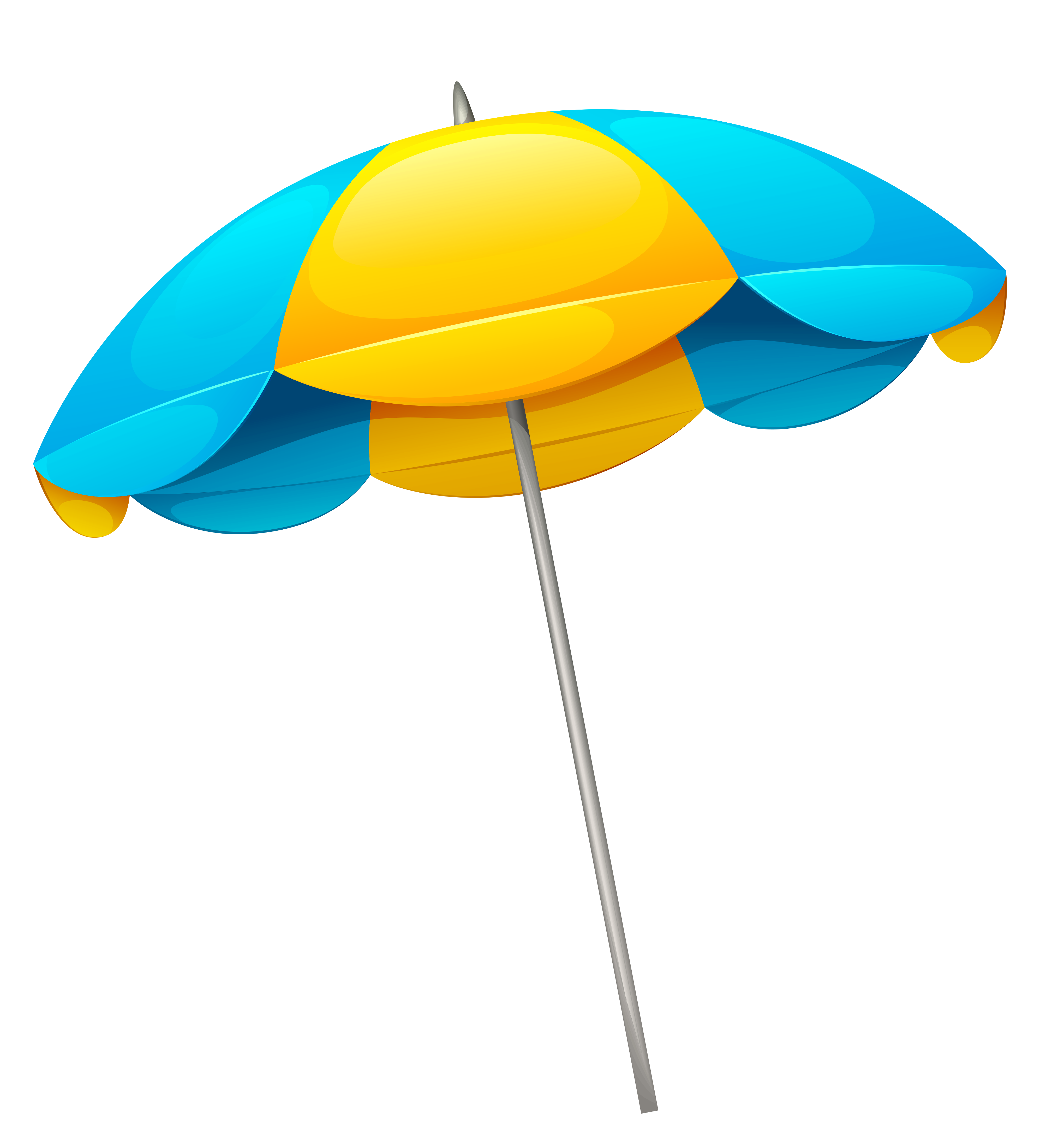 Clipart sun beach jpg free Yellow Blue Beach Umbrella PNG Clipart | Gallery Yopriceville ... jpg free