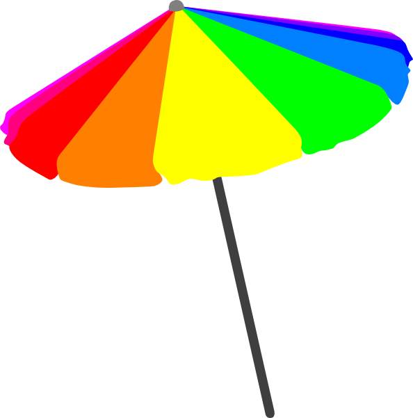 Beach umbrella with sun clipart jpg stock Beach Umbrella, Primary Clip Art at Clker.com - vector clip art ... jpg stock