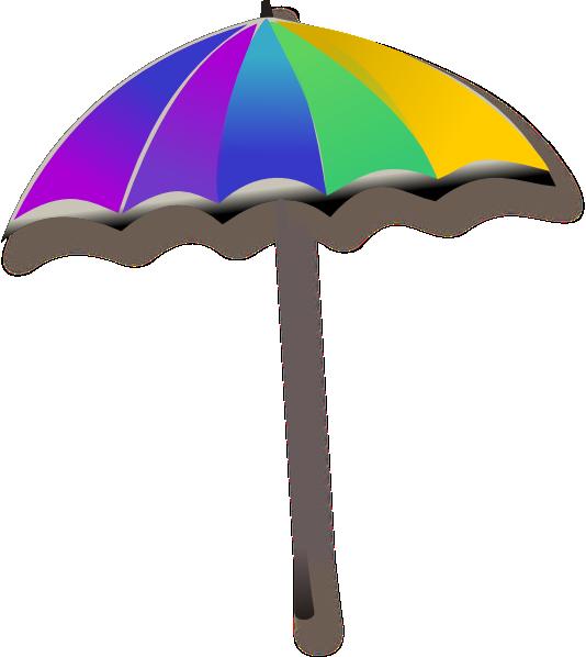 Beach umbrella with sun clipart vector black and white download Umbrella Clip Art at Clker.com - vector clip art online, royalty ... vector black and white download
