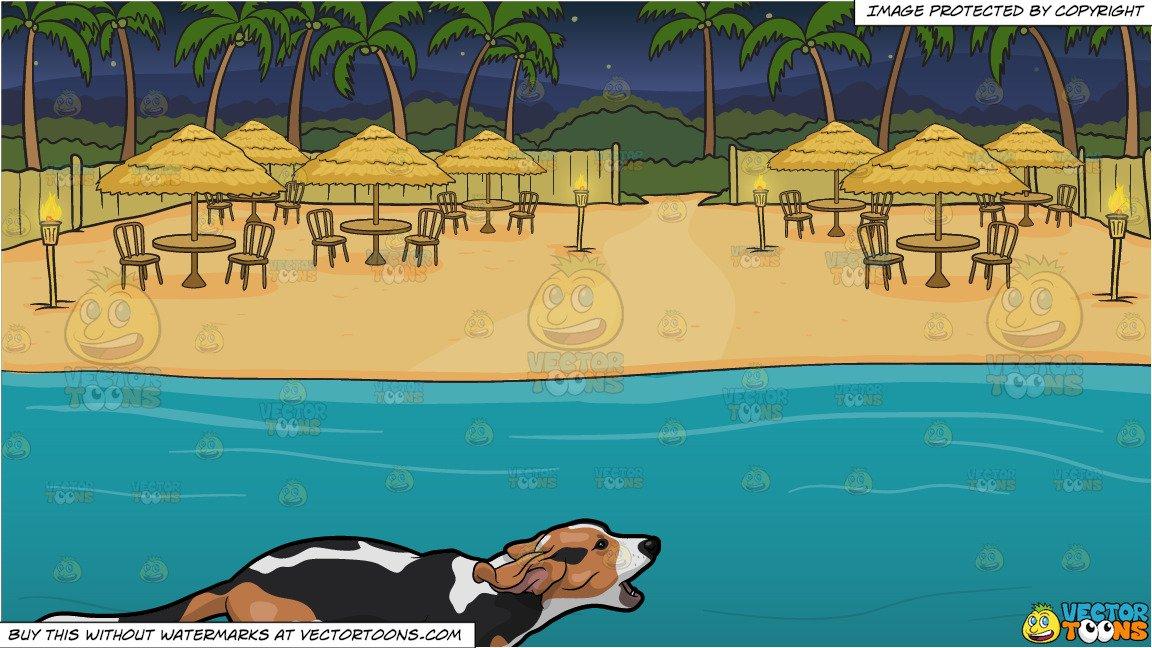 Beach view clipart
