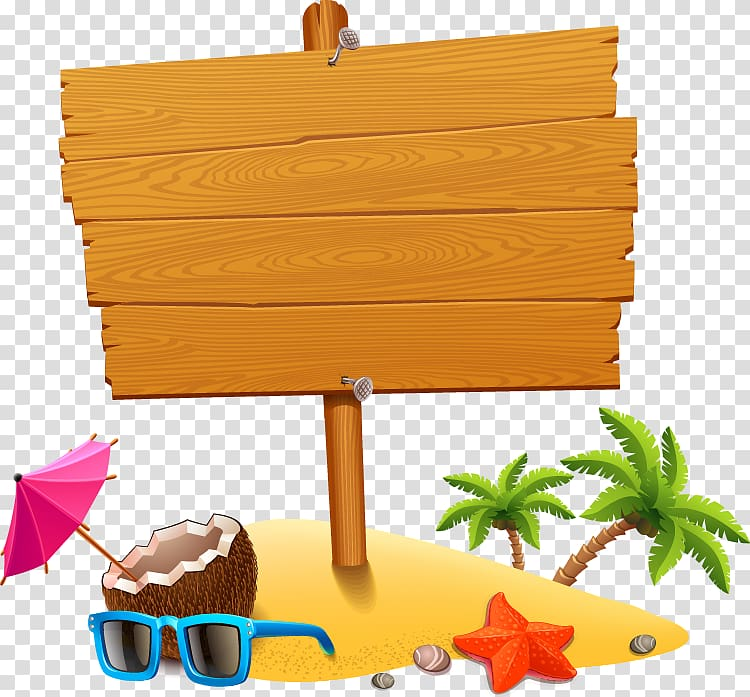 Beach wood clipart graphic royalty free Brown wooden board , Vacation Beach , Summer tourism element ... graphic royalty free