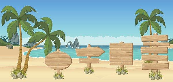 Beach wood clipart svg freeuse download Wooden Signs ON A Beach premium clipart - ClipartLogo.com svg freeuse download