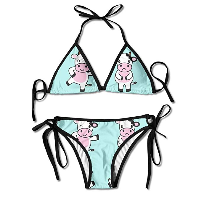 Beachwear clipart clipart free Amazon.com: Cow Clipart Four Women\'s Bathing Suit Adjustable Strap ... clipart free