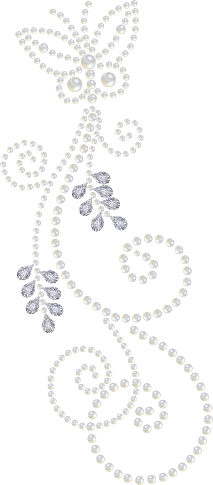 Another Pearl-and-Diamond clipart, nice swirls... | Artsy in the ... banner black and white download